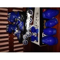 รองท้าวสเก็ สเก็ตโลละเบส สี สีฟ้าไซด์แอล  ขนาด 37 ถึง ขนาด 37 ถึง 42  ซ.ม พร้ พร้อมอุปกรณ์ป้องกัน