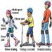 Kid Protection เซ็ทอุปกรณ์ ป้องกันการล้ม 6 ชิ้น พร้อมหมวกกันกระแทก (Blue)